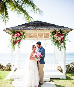 Beautiful Bright Colors Take Center Stage At Our Villa Montana Beach Resort Oceanfront Ceremony
