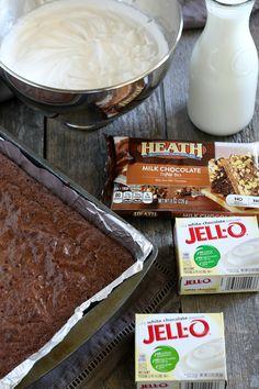 Ingredients for gluten-free brownie heath trifle Brownie Pudding, Trifle Pudding, Trifle Recipe, Gf Recipes, Gluten Free Recipes, Cooking Recipes, Gluten Free Brownies, Gluten Free Desserts, Pinterest Recipes