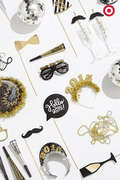 Do your New Year's Eve party a favor and stock it up with all the right party favors. From noisemakers and party horns and hats, to mustache straws and disco balls, crush on this mix of the traditional and the whimsical.