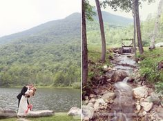 Here are some of our favorite documentary wedding photography pictures from a rustic and outdoor wedding at the Equinox Pond Pavilion in Manchester, VT.