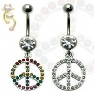 Wholesale Body Jewelry Peace Sign Cz Body Jewelry N223 Product Code: N223 Dangle Belly Rings, Belly Button Rings, Wholesale Body Jewelry, Washer Necklace, Dangles, Peace, Sign, Jewels, Steel