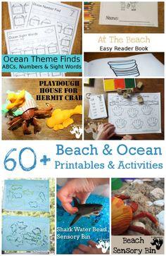 60+ Ocean & Beaches Activities, Printables & More | 3 Dinosaurs