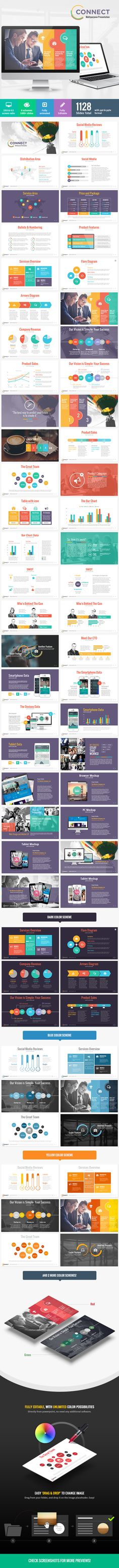 Connect - Modern Powerpoint Template (Powerpoint Templates)