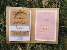 Country Shabby Chic Wedding Invites