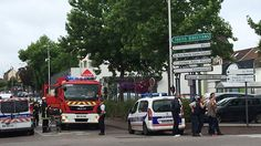 Agencies: At least one person was killed on Tuesday during a hostage situation at a church near the northern French city of Rouen, a police source said. The French interior ministry said that two hostage takers were Kirchen, Decir No, Youtube, Knives, Miami, Weapon, Old Men, Priest, France