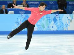 Liam Fius (CAN) performs in the mens short program figure skating.