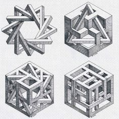 Brilliant Draw A Glass Ideas. Exquisite Draw A Glass Ideas. Illusion Drawings, 3d Drawings, Illusion Art, Tatu 3d, Impossible Shapes, Isometric Drawing, Sacred Geometry Art, Mc Escher, Math Art