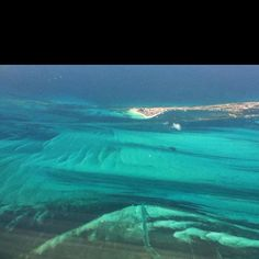 The ocean off Cancun at 10,000 feet! So beautiful!