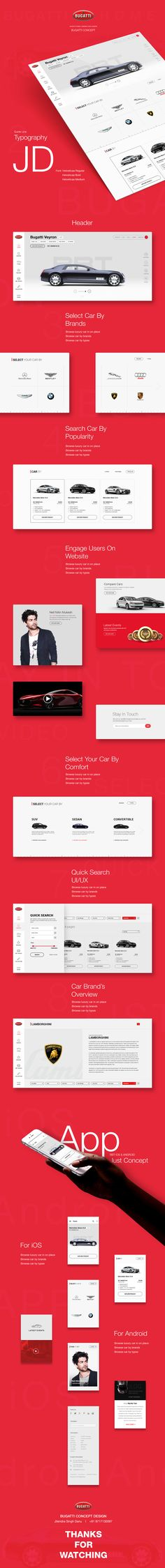 Bugatti Sports Car Manufacturer Web UI/UX by JD Jitendra Singh Danu