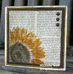sunflower stampin up stamp - Google Search