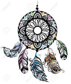Indian Dream catcher vector image on VectorStock Dream Catcher Vector, Dream Catcher Drawing, Dream Catcher Tattoo, Hand Tattoos, Body Art Tattoos, Flower Tattoos, Tattoo Flash Art, Wolf Sketch Tattoo, Edinburgh Tattoo