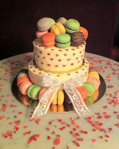 macaron tiered cake - Google Search