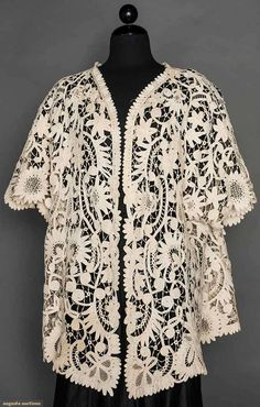 Battenburg White Lace Jacket, C. 1905, Augusta Auctions, April 8, 2015 NYC, Lot 305
