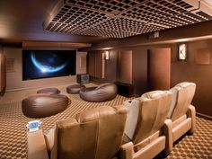 Who wouldn't love a home #theater like this?  Great seating; it makes you feel like you're at the movies!