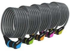 OnGuard NEON COMBO Coil Cable Lock. *Available in Blue, Green, Orange, Pink, White & Yellow*