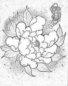 Japanese Peony Tattoo, Japanese Sleeve Tattoos, Japanese Flowers, Mini Tattoos, Black Tattoos, Body Art Tattoos, Floral Tattoo Design, Flower Tattoo Designs, Peonies Tattoo