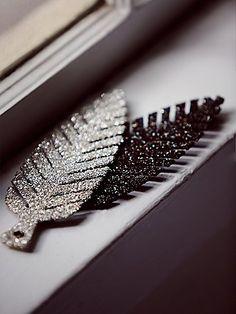 Glitter Feather Ornament