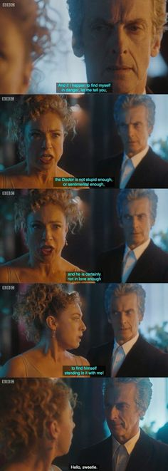 Hello, Sweetie. *Loved this moment* ▪ #DoctorWho #Twelve #RiverSong