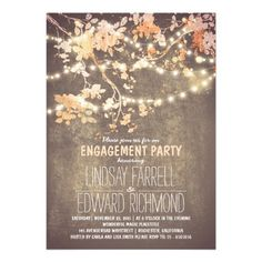 String lights cute and fancy engagement party personalized invitations                                                                                                                                                     More