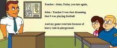 Teacher and john.