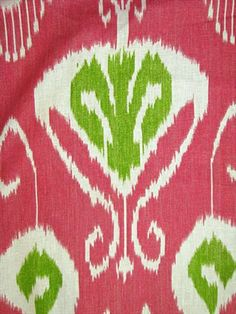 Latika Geranium:An Echo Design Fabric, linen print from Kravet Fabric. Ikat Fabric, Green Fabric, Fabric Decor, Textures Patterns, Fabric Patterns, Textile Design, Fabric Design, Sea Bright, Ikat Pattern