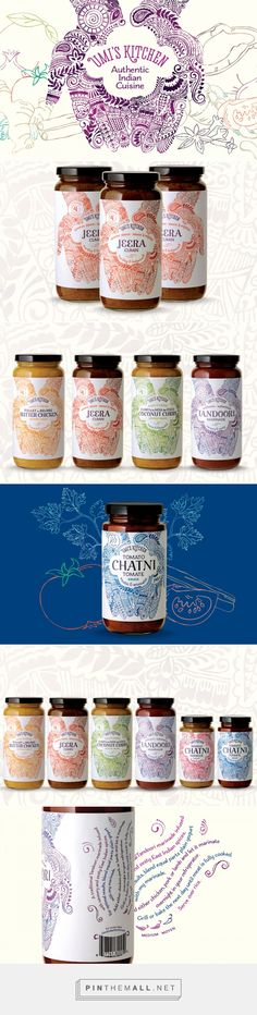 Umi's Kitchen Authentic Indian Sauces & Chatnis — The Dieline - #Branding & #Packaging