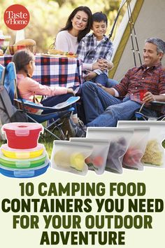 10 Camping Food Containers You Need for Your Outdoor Adventure Camping Meal Planning, Best Camping Meals, Camping Snacks, Camping Recipes, Campfire Breakfast, Food Canisters, Fresh Squeezed Lemonade, Trail Mix Recipes, Reusable Sandwich Bags