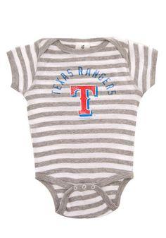 Texas Rangers Infant White/Grey Striped Onesie  $16.95