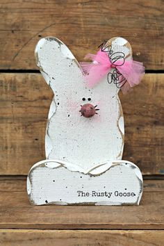 Easter Decor Spring Decor Easter Bunny by therustygoose on Etsy