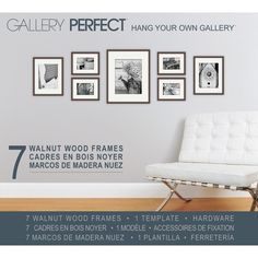 You'll love the Gallery 7 Piece Perfect Wall Picture Frame Set at Wayfair - Great Deals on all Décor  products with Free Shipping on most stuff, even the big stuff.