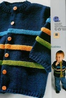 2017 Jungen Pullover - All Hair Styles Baby Boy Knitting Patterns, Baby Cardigan Knitting Pattern, Knitting For Kids, Baby Patterns, Start Knitting, Baby Boy Cardigan, Knitted Baby Cardigan, Knit Baby Sweaters, Toddler Cardigan