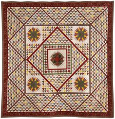 LEGENDS. 19th century American quilts are exquisitely reproduced by France Patchwork. article from Quilter's Newsletter June/July 2013