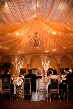 """simply natural events"" tent lighting candel reception centerpiece photo by: Lulu Photos vendor: Simply Natural Events Wedding Draping, Tent Wedding, Fall Wedding, Wedding Events, Wedding Reception, Our Wedding, Dream Wedding, Wedding Flowers, Wedding Bells"