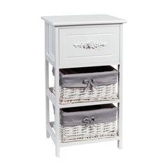 Petit meuble en bois blanc L 37 cm ROSA