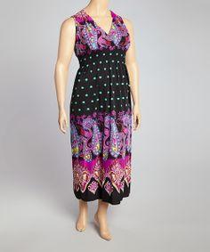 f16ee6271ec jon   anna Black   Purple Paisley Maxi Dress - Plus