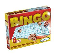 5290.9 - Bingo | Contém 75 pedras de madeira e cartelas. | Faixa Etária: +6 anos | Medidas: 26 x 5 x 20,5 cm | Jogos e Brinquedos | Xalingo Brinquedos | Crianças