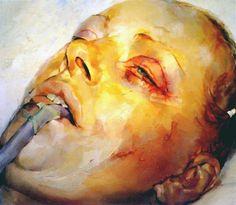 Jenny Saville, Knead, 1994, Oil on canvas, 137.5 x 157.5cm @ Courtesy Gagosian Gallery