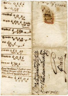Galileo Galilei - autograph notes on the satelites of Jupiter - Morgan Library