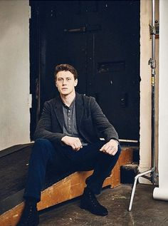 Another one from my shoot with George Mackay. Photographed for LA Times at Mount Pleasant Studios, Farringdon. George Mackay, T Tv, Richard Madden, First Humans, Hayley Williams, White Boys, Fine Men, Beautiful Boys, Celebrity Crush