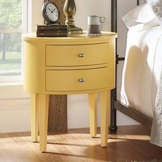 Three Posts Canterbury End Table with Storage. Every sofas sidekick, end tables display decor, hold TV remotes and beverages, and round out seating ensembles in style. #endtables #nightstand #yellowdecor #aff #funkthishouse