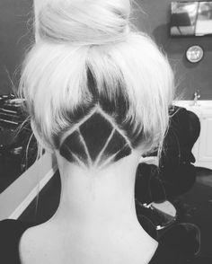 undercut frisuren blond-schwarz-styling-akzent-bilder