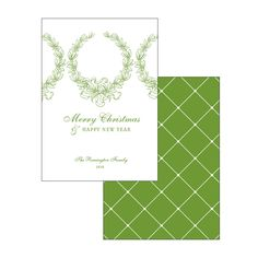 Christmas Card | WREATH  @pagestationery