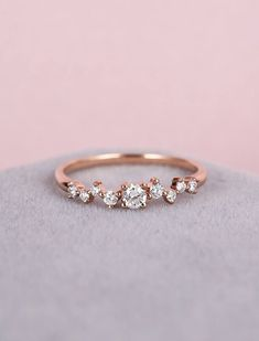 Diamond Cluster ring Twig engagement Ring Rose Gold Mini Floral Unique Wedding Band Women Bridal set Jewelry Multi Gift Promise Anniversary by NyFineJewelry on Etsy https://www.etsy.com/listing/522536308/diamond-cluster-ring-twig-engagement #anniversarygifts #GoldJewelleryBridal