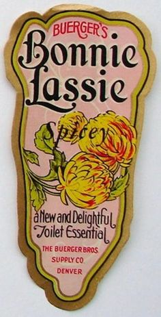 description this is an original perfume label this label was printed