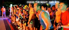 Firefly Run- participants receive blinking LED wristbands and the money raised goes to local charities