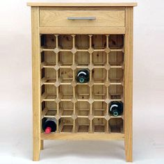 Show details for 30 Bottle Contemporary Wooden Wine Cabinet / Rack - Legs