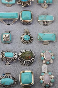 So many turquoise rings to love at one time.