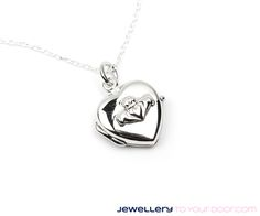 Solid silver claddagh locket &  chain Fantastic value €25