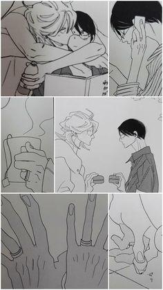 Bind them. Let my babies be happy forever. Manhwa, Nakamura Asumiko, Animes On, Gekkan Shoujo Nozaki Kun, Anime Scenery Wallpaper, Hyouka, Haikyuu Ships, Manga Pages, Shounen Ai