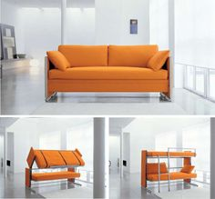Couch That Transforms Into A Bunk Bed. Space Saving Furniture Design    Living Comfortable In
